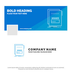 Blue business logo template for fraud link vector