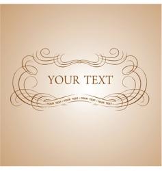 Calligraphy text vector