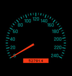 car speedometer dial vector image