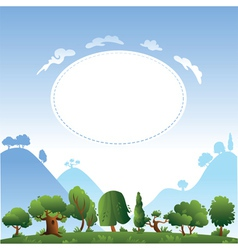 card design with trees vector image
