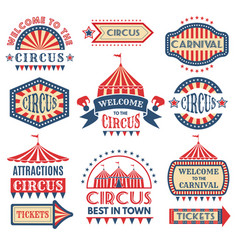 carnival event logotypes template badges vector image