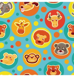 Cartoon animal heads vector
