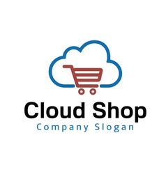 Cloud Shop Design vector image