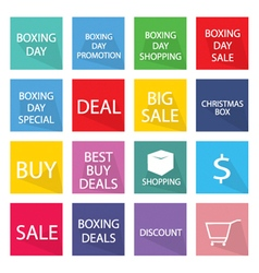 Collection of Boxing Day Banner for Special Price vector image