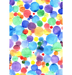 colorful rainbow watercolor hand painting vector image