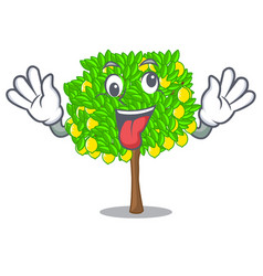 crazy lemon tree in the pot character vector image