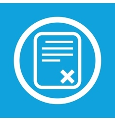 Declined document sign icon vector