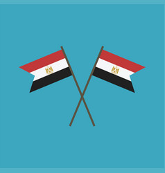 Egypt flag icon in flat design vector