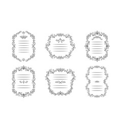 Floral borders set italian ornament vector