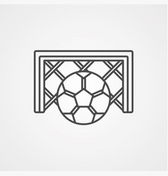 football ball icon sign symbol vector image