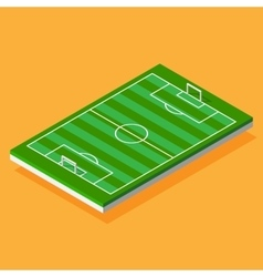 Football field stylized isometric vector image