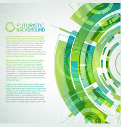 Fururistic green conceptual background vector