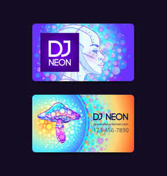 Futuristic retro wave style party flyer template vector