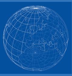 Globe contour rendering 3d vector