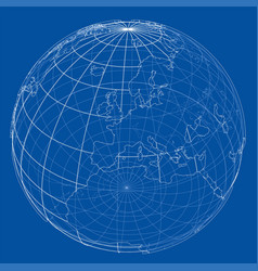 Globe contour rendering of 3d vector
