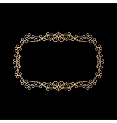 Golden vintage ornamental frame vector image