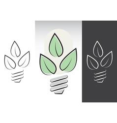 green energy light bulbs symbols vector image