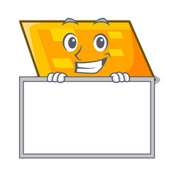 grinning with board parallelogram character vector image