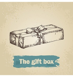 Hand drawn gift vector image