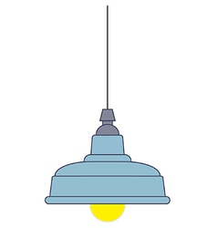Industrial style pendant ceiling light vector