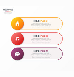 Infographic template with 3 options design vector