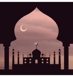 Islam rose sky vector