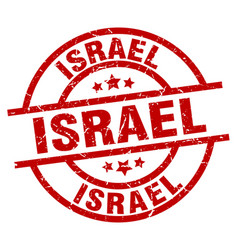 Israel red round grunge stamp vector