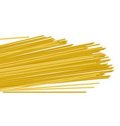 Italian raw pasta spaghetti realistic vector