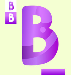 Letter b graphic design vector