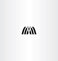 Letter m icon symbol black logotype element sign vector