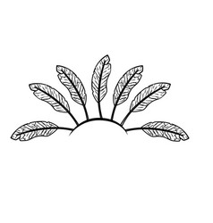 line beauty diadem of feathers design decoration vector image