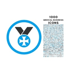 Maltese Medal Rounded Icon with 1000 Bonus Icons vector image