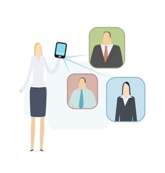 Mobile video conference vector