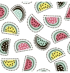 Modern fruit seamless pattern Background with vector
