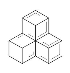 Module line icon vector