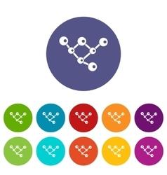 Molecule structure set icons vector image