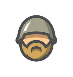 motor biker man in helmet cartoon vector image