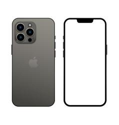 New iphone 13 pro graphite color vector