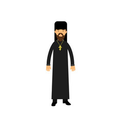 orthodox priest character religion representative vector image