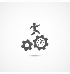 productivity icon on white vector image