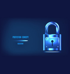 protection concept safety information and data vector image