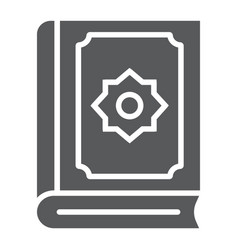 Quran glyph icon islam and book koran sign vector