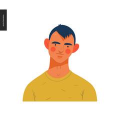 real people portraits - brunette man vector image