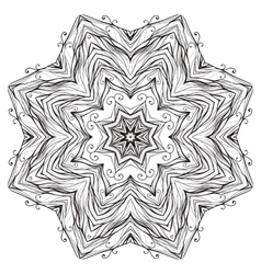 Round mandala kaleidoscopic lace ornamental vector image