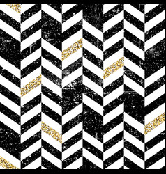 Seamless chevron pattern with glittering gold vector