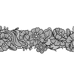 seamless lace pattern with flowers vector image