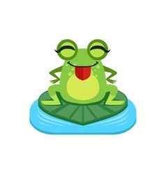Silly Cartoon Frog Character vector