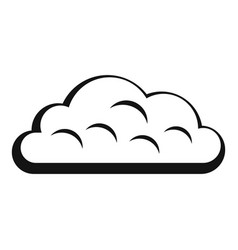 Snow cloud icon simple style vector