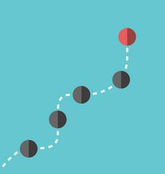 Spheres following leader vector