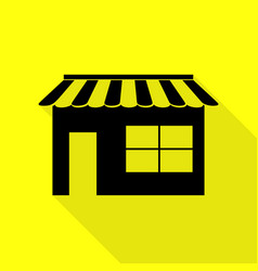 store sign black icon with flat vector image
